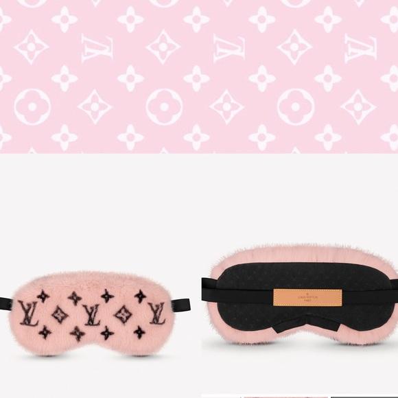 Louis Vuitton 💕 Pink Mink Fur Sleep Mask